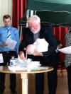 Archie James Bevan - christening on 4th July 2010
