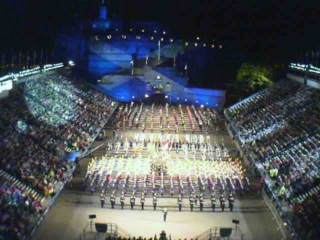 the Edinburgh Tattoo on Thusday 16th August - taken off the castle#s webcam.